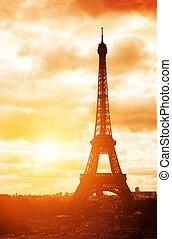Eiffel tower, Champ-de-mars, Paris, France - Famous landmark...