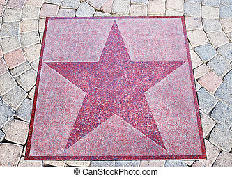 Star walk - An empty star from the Palm Canyon Drive in Palm...