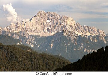 Evening view of Mount Civetta in Italien Dolomites - Evening...