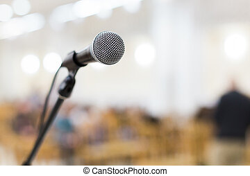 microphone on stage at the concert - microphone on stage at...