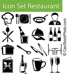 Icon Set Restaurant I