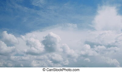 Sky and clouds time lapse - Towering Cumulus Cloud Billows...