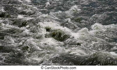 The Quick mountain river - The Powerful water flow mountain...