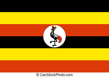Uganda Flag - Sovereign state flag of country of Uganda in...