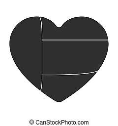 United Arab Emirates heart icon in black style isolated on white background. Arab Emirates symbol stock vector illustration.