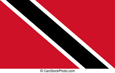 Trinidad and Tobago flag - Sovereign state flag of country...