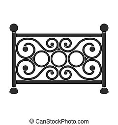 Fence icon in black style isolated on white background. Park symbol stock vector illustration.