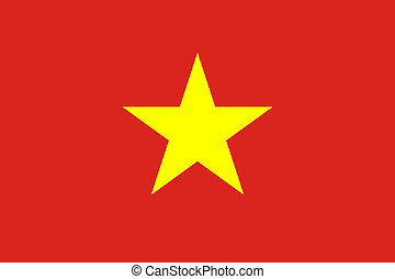 Vietnam Flag - Sovereign state flag of country of Vietnam in...
