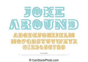 joke around - old style alphabet letters and numbers...