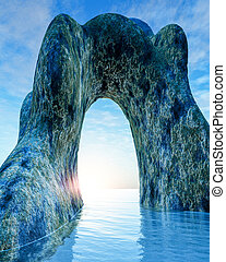 Old Stone Arch in Sea
