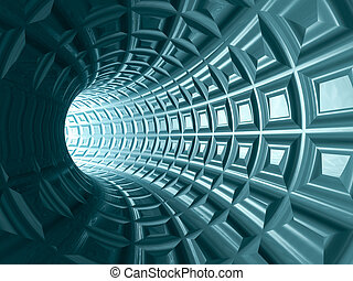 Tunnel Grid Background