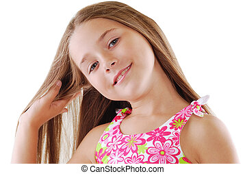 Bright portrait of blond small girl