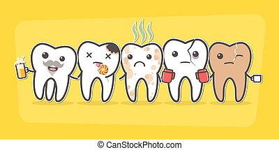 Bad teeth company. Problematic sick and unhealthy teeth...