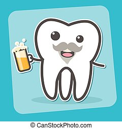 Drunk wisdom tooth with beer. - Drunk insane tooth with...