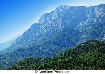 Blue mountains - Vibrant view to mountains in Antalya region...