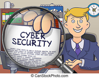 Cyber Security through Lens. Doodle Design. - Cyber Security...