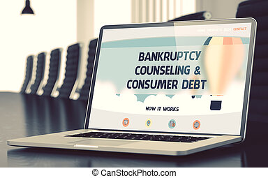Bankruptcy Counseling and Consumer Debt Concept. 3D. -...