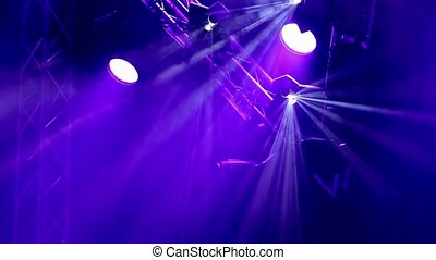 Rock concert and disco party stage lights - Rock concert and...