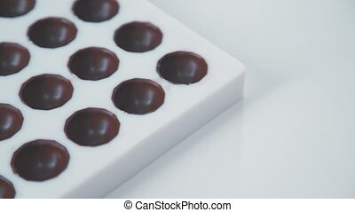 Confectionery form for the manufacture of chocolates. - Mold...