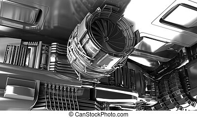 Steam turbine of power generator in an industrial thermal...