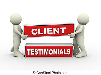 3d people and client testimonials - 3d rendering of people...