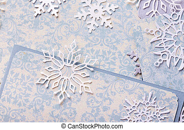 scrapbooking - scrapbook. Christmas background - scrappaper...