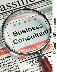 Business Consultant Wanted. 3D.