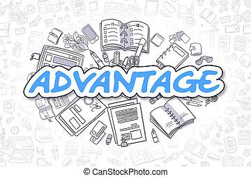 Advantage - Cartoon Blue Text. Business Concept. - Advantage...