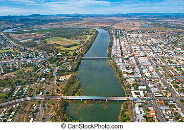 Aerial view of Rockhampton July,2010 - Aerial of...