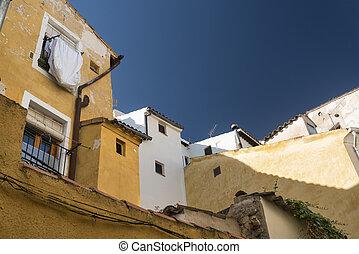 Cuenca (Spain), street - Cuenca (Castilla-La Mancha, Spain),...