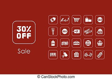 Set of sale simple icons - It is a set of sale simple web...