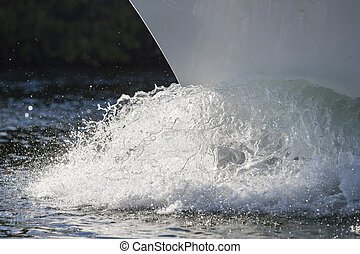Bow Of A Boat - Bow of a moving through a body of water
