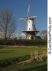White windmill in Veere 1