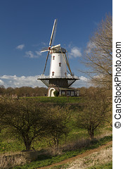 White windmill in Veere 6