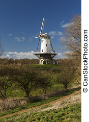 White windmill in Veere 7