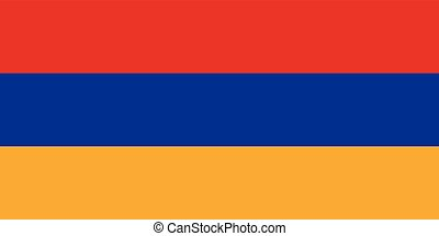 Official vector flag of Armenia . Republic of Armenia .