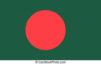 Official vector flag of Bangladesh . People's Republic of...