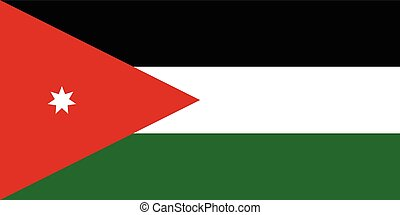 Official vector flag of Jordan . The Hashemite Kingdom of...