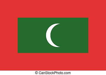 Official vector flag of Maldives . Republic of Maldives .