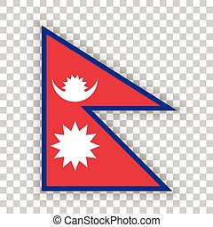 Official vector flag of Nepal . Federal Democratic Republic...
