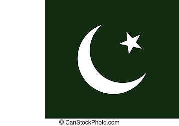 Official vector flag of Pakistan . Islamic Republic of...