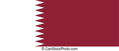 Official vector flag of Qatar .  State of Qatar .