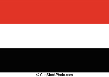 Official vector flag of Yemen . Republic of Yemen .