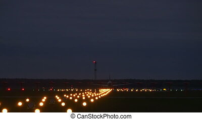 Airplane takeoff runway airport