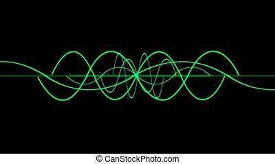 green lines wave,seamless loop