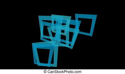 abstract blue square frame