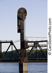 Prescott Bridge Counterweight and Tower - Photo of BNSF...