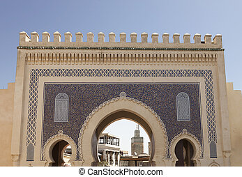 Gate in Fez - Gate of old medina in Fez, Morocco, Africa