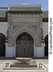Fountain in Fez - Fountain next to the mosque in Fez,...
