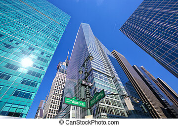 Skyscrapers in Midtown Manhattan - Midtown Manhattan...